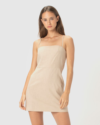 Cools Club - Women's Neutrals Mini Dresses - Fitted Shift Dress - Size One Size, 8 at The Iconic