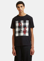J.w. Anderson Doodle Print Patch D-ring T-shirt In Black
