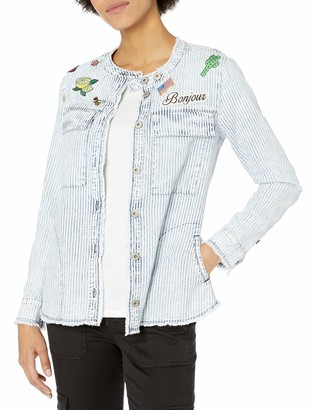William Rast Women's Willliam Rast-Knotto Shirt Jacket with Patches