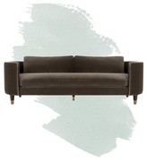 """Winford Velvet 91.3"""" Recessed Arm Sofa Bed Foundstone Fabric: Gray"""