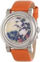 Invicta Women's 12131 Angel with Bird Image Dial Orange Leather Watch
