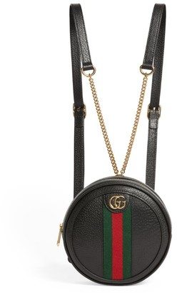 Gucci Mini Leather Ophidia Backpack