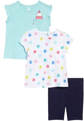 Little Me Ice Cream Tops & Shorts Set