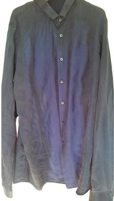 Prada Navy Silk Shirts