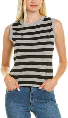 Autumn Cashmere Cotton By Striped Muscle T-Shirt