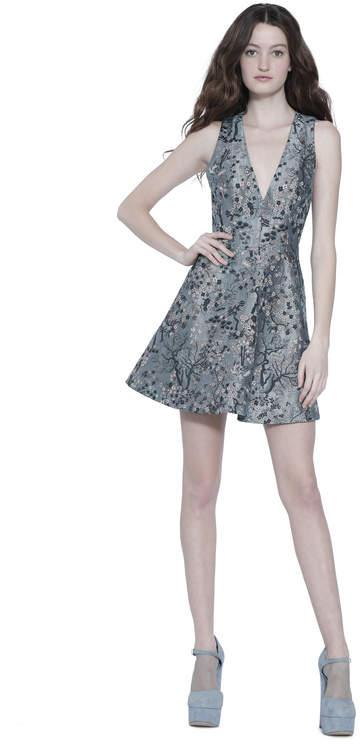 Alice + Olivia Tennie V-Neck Party Dress