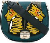 Furla tiger patch saddle bag