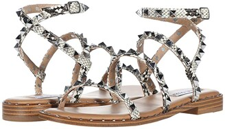 Steve Madden Travel Flat Sandal (Snake) Women's Shoes