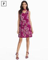 White House Black Market Petite Sleeveless Floral Choker Shift Dress