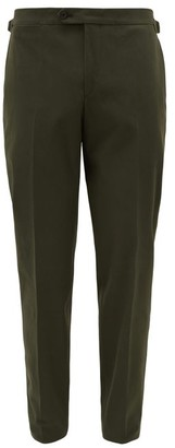 Thom Sweeney - Front-pleated Wool-blend Crepe Trousers - Green