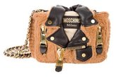Moschino 2015 Furry Teddy Bear Biker Jacket Bag