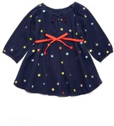 Margherita Toddler Girl's Embroidered Polka Dot Dress