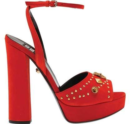 Fausto Puglisi Open Toe Suede Platform Sandal (Women's)