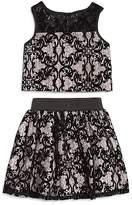 Pippa & Julie Girls' Lace Top & Skirt Set - Little Kid