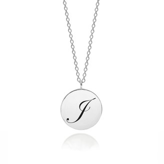 Myia Bonner Sterling Silver Initial J Edwardian Pendant