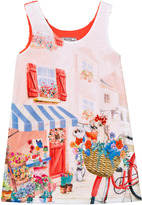 Mayoral Pink Street Scene Frill Back Dress