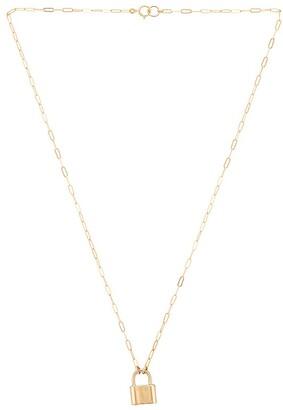 Joy Dravecky Jewelry Monaco Lock Necklace