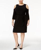 Calvin Klein Plus Size Cold-Shoulder Dress