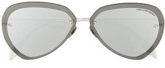 Alexander Mcqueen Eyewear Oversized Metallic Sunglasses