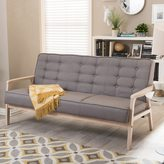 Baxton Studio Mid-Century Masterpieces Grey Sofa