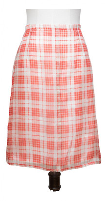 Dries Van Noten Orange Silk Skirts