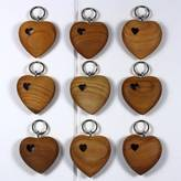 Nest Wooden Heart With Hole Keyring