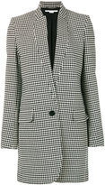 Stella McCartney dogtooth single breasted coat