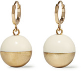 Isabel Marant Peace On Earth Gold-tone Resin Earrings