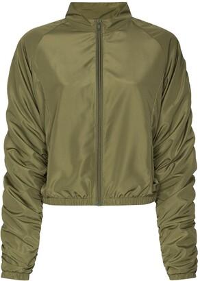 Fantabody Ruched-Sleeve Zipped Track Jacket