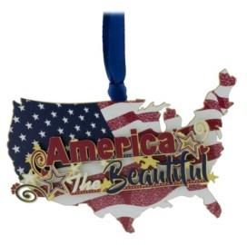 ChemArt Patriotic America Ornament