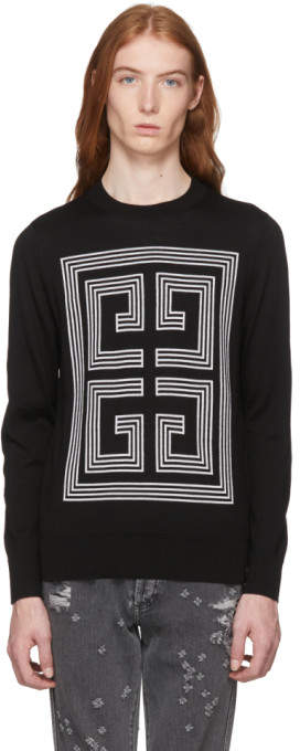 Givenchy Black Big 4G Intarsia Sweater