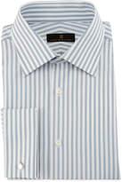 Ike Behar Bold-Stripe Dress Shirt, Gray/White