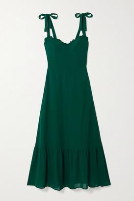 Reformation Nikita Chiffon-trimmed Ruffled Georgette Midi Dress