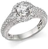 Bloomingdale's Certified Diamond Halo Ring in 14K White Gold, 2.20 ct. t.w. - 100% Exclusive