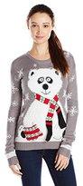 Derek Heart Junior's Panda Bear Pullover Tunic Ugly Christmas Sweater