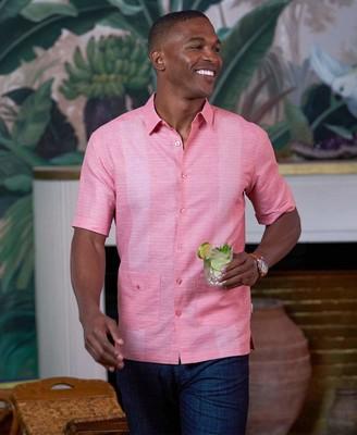 Cubavera Double Pocket Panel Stripe Shirt