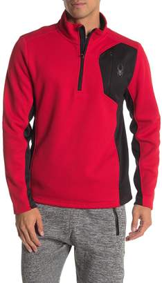 Spyder Raider Quarter Zip Stand Collar Pullover Sweater