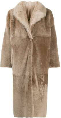 Liska Single Breasted Reversible Coat