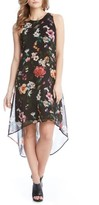 Karen Kane Women's Floral High/low A-Line Dress