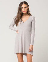 Full Tilt V-Neck Sweater Dress