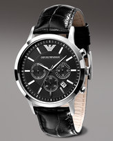 Emporio Armani Stainless Steel Chronograph, Black