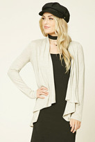 Forever 21 FOREVER 21+ Heathered Open-Front Cardigan
