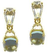 Judith Ripka Sterling & 14K-Clad Blue Topaz Drop Earrings