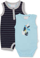 Marquise NEW Parrot 2pc Set-Romper & Bodysuit Navy