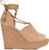 MICHAEL Michael Kors wedge lace-up pumps - women - Leather/Suede - 5.5