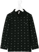 Sun 68 symmetric pattern polo shirt