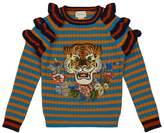 Gucci Ruffle Tiger Sweater