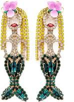 Elizabeth Cole 'Mermaid' Swarovski crystal drop earrings
