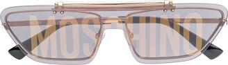 Moschino Logo Print Cat Eye Sunglasses