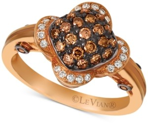 LeVian Le Vian Chocolatier Diamond Cluster Ring (1/2 ct. t.w.) in 14k Rose Gold